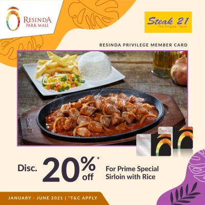 Steak 21 - Januari Juni 2021 - RPM Card